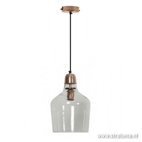 Hanglamp Glas Keuken : Glazen hanglamp koper Sage hal-keuken Straluma