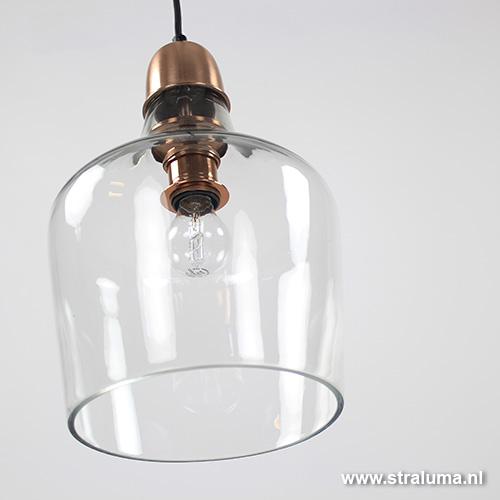 Hanglamp Glas Keuken : Hanglamp 71781: Modern, Design, Glas, Helder ...