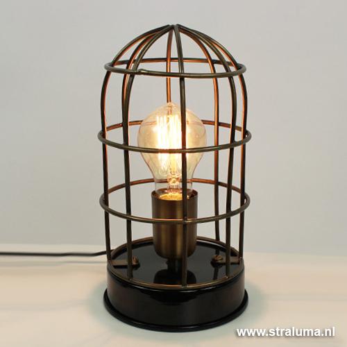 Trendy brons ijzeren tafellamp carandira straluma for Mooie tafellampen