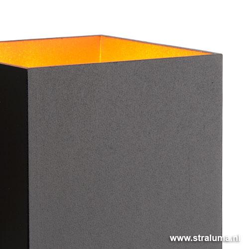 Woonkamer Wandlamp : Zwarte wandlamp Xera vierkant woonkamer Straluma