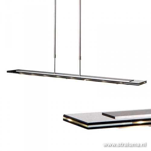 Moderne hanglamp Led eettafel staal  glas   Straluma