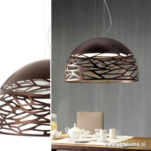 Grote hanglamp kelly koepel eettafel straluma for Lampen eettafel design