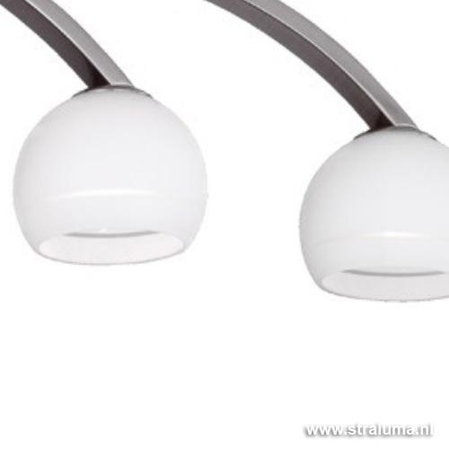 Keuken Plafondlamp : Moderne plafondlamp nikkel hal, keuken Straluma