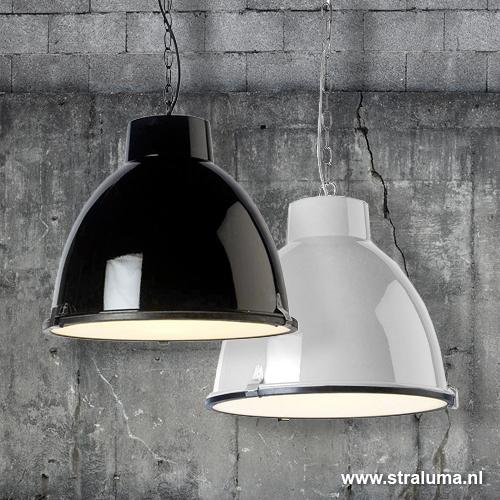 Stoere Hanglamp Keuken : Stoere industriele hanglamp zwart keuken Straluma