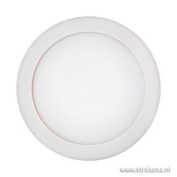 *Strakke plafondlamp LED rond wit