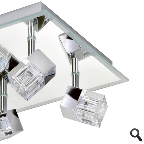 moderne badkamerlamp plafond chroom ip  straluma, Meubels Ideeën